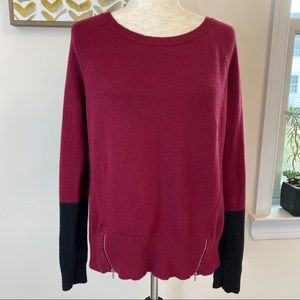 Eileen Fisher organic cotton cashmere zipper